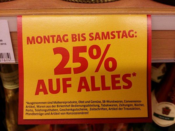 Lokal Krefeld Kaiser's 25% mit Einschränkungen