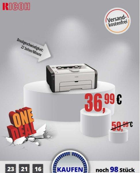 [one.de]Ricoh SP 211 S/W-Laserdrucker versandkostenfrei für 36,99