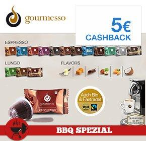 [Qipu] Gourmesso mit 5€ Cashback , Versandkostenfrei ab 35€ + 10% Scondoo möglich