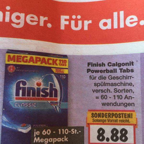 Kaufland FFB / München - Calgonit Finish Powerball Tabs 60 - 110 Anwendungen