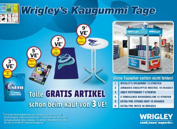 [METRO] Wrigley's Kaugummi Deal für 34,56 Euro kaufen und einen Standtisch gratis dazu