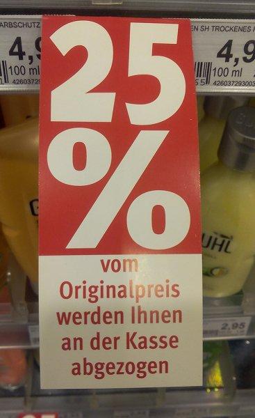 [Rossmann Weimar Atrium] 25 % auf alles* – Räumungsverkauf wegen Renovierung/Umbau – offiziell bis 30.4.2015