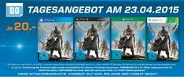 (Lokal) Saturn Berlin & Potsdam Destiny für PS4 / XBOX ONE / PS3 / XBOX 360 je 20€ als Tagesangebot am 23.04.2015