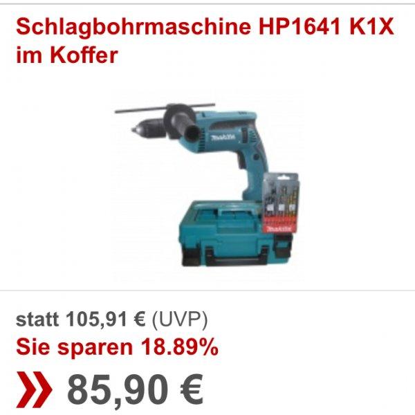 Rakuten. Makita Schlagbohrmaschine HP1641 K1X im Koffer. Für 85,90