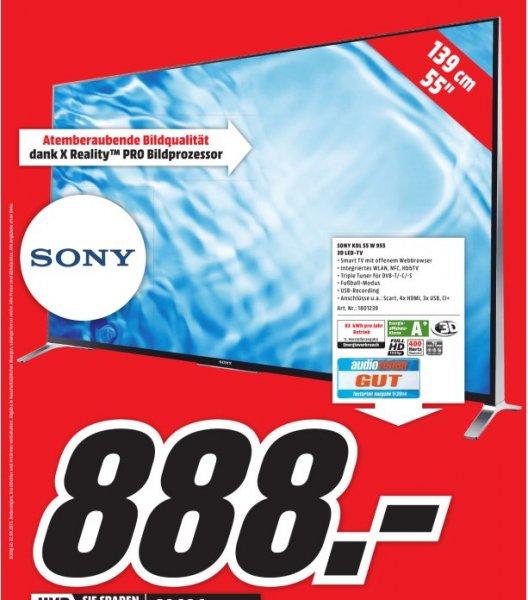 [Lokal Mediamarkt Stuttgart-City] SONY KDL55W955 TVC 55 LED FHD 3D SMART 400HZ SAT für 888,-€