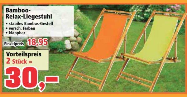 [Thomas Philipps] 2 Bambus-Liegestühle für 30 EUR