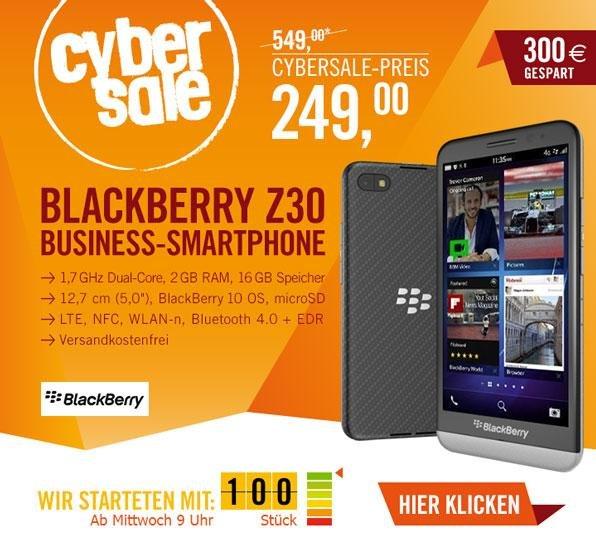 CYBER SALE --> Blackberry Z 30