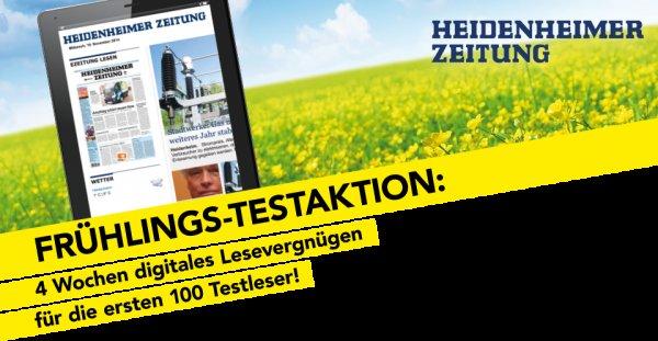 4 Wochen die Heidenheimer Zeitung als Digitalversion gratis lesen