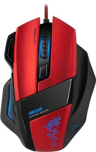 Speedlink Decus Core Gaming Maus (Laser-Sensor, 7 Tasten programmierbar, interner Speicher, DPI-Schalter bis 5000dpi) rot @Amazon Blitzangebot