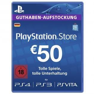 PSN - 50€ Guthaben für 40€ @Redcoon.de