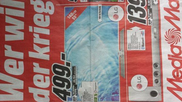 [Lokal Mediamarkt] LG 55 LB 580 V bei Mediamarkt 140cm