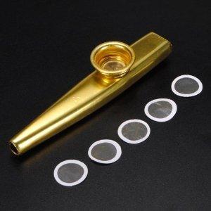 Kazoo mit 5 Membranen Musikinstrument aus Metall für 2,39€ @Banggood