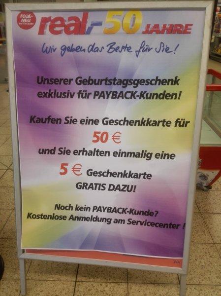 Real(Payback Aktion, evtl. Lokal), Gutscheinkarte +10%