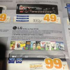 LG 3D Bluray-Player BP 450 + 10 BluRays für 99€ [Lokal Bremerhaven Expert Bening]