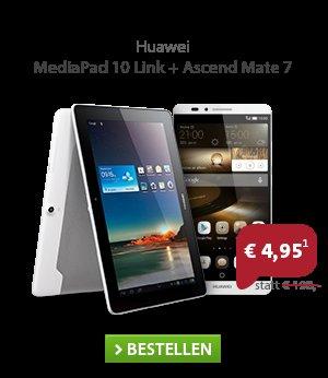 [Sparhandy] o2 All-In M (Allnet-Flat, SMS-Flat, 1 GB mit 21,1 mbit/s) + Huawei Ascend Mate 7 + Huawei MediaPad 10 Link (3G)