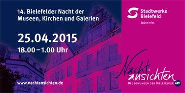 [LOKAL Bielefeld] Bielefelder Nachtansichten 25.04. Einlass in viele Bielefelder Museen, Galerien, Bus und Bahn ab 8,80 €