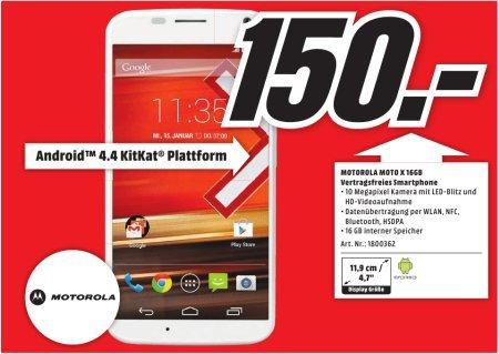 [Lokal Mediamarkt Egelsbach] Motorola XT1052 MOTO X - White für 150,-€