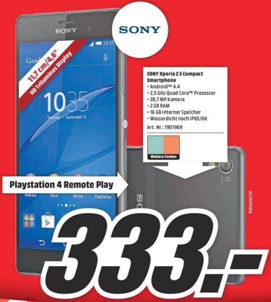 [Lokal Essen Mediamarkt] Sony Z3 Compact + 50 € MM Gutschein bis 25.04.