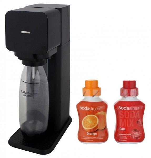 [Comtech/Comdeal) SodaStream Play Wassersprudler schwarz inklusive 5x Cola Sirup 600ml und 5x Orange Sirup 600ml für 44,90€ Versandkostenfrei