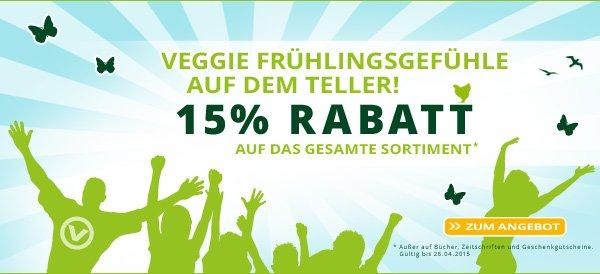 Alles Vegetarisch / Vegan - 15% auf das gesamte Sortiment