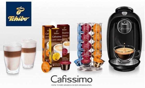 Tchibo Cafissimo PICCO inkl. 30 Kapseln, Kapselspender und 2 Latte Macchiato Gläsern für 39,90 € (54% sparen*)