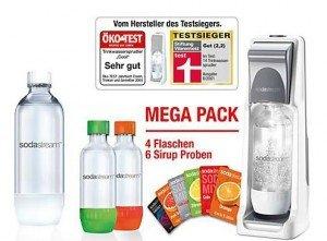 [Rossmann] SodaStream Wassersprudler Vorteilspack Cool im Onlineshop 1 CO2-Zylinder, 2x1 l PET, 2x 0,5l PET und 6 Probierpäckchen für 49,99 + 4,95 Versand