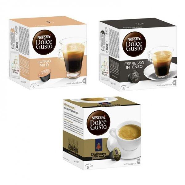 [SIMPLORA + ALLYOUNEED FRESH] 144x Nescafé Dolce Gusto Kapseln (3 Sorten) 0,126€/Kaspel für Simplora Neukunden (bzw. 0,188€ für Bestandskunden)