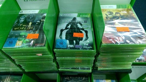 Diverse XBOX 360 Titel für 9,99€ @ Saturn-Spandau-Arcaden z.B. Darksiders 2, Portal 2, Dishonored