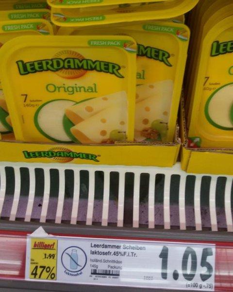 Leerdammer original 140 g statt 1,99 € für 1,05 € im Kaufland Berlin-Weißensee Romain-Rolland-Str.13