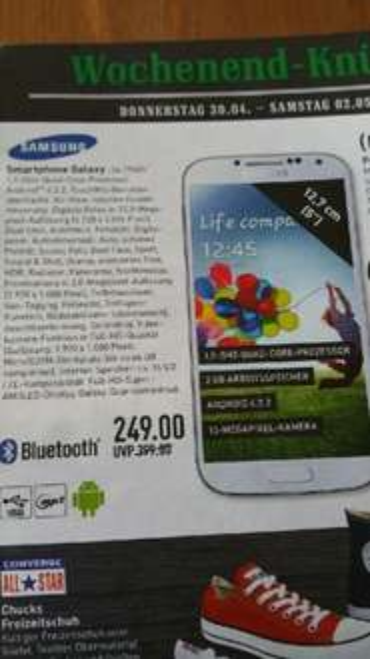 Samsung Galaxy S4 249€ *Lokal* Marktkauf Frechen