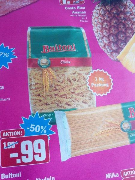 (HIT) Buitoni Italienische  Nudeln 1 kg für 0,99 Euro