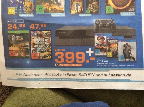 (kl.. Sammeldeal) State of Decay (Xbox One) , GTA  V (PC) und Playstation 4 Set@ Saturn Erfurt (eventuell Bundesweit)