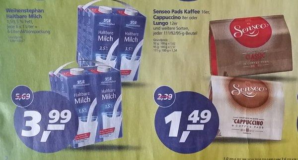[LOKAL Hallstadt-Bamberg] 6x1 Liter Weihenstephan Haltbare Milch 3,99€ - Senseo Pads 1,49€ - bei real vom 29.04. bis 09.05.