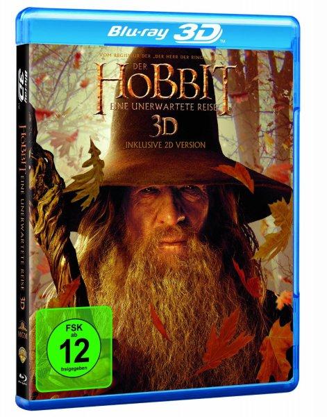 [ 3D Blu-ray + 2D ] Der Hobbit - Eine unerwartete Reise 3D inklusive 2D Version für 9,- EUR @amazon.de mit Prime sonst + 3 € für Versand