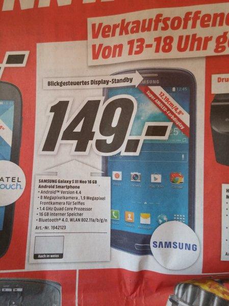 [LOKAL: Media Markt Heilbronn] Samsung Galaxy S3 Neo für 149 EUR