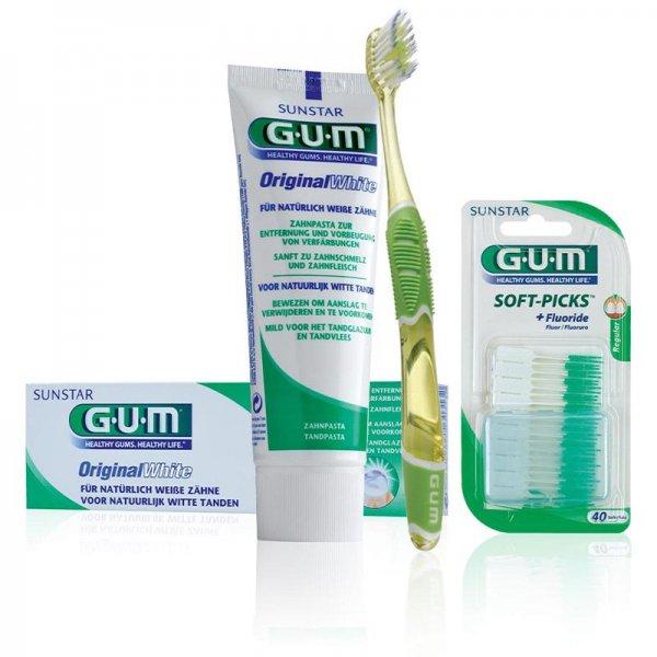 GUM-Mundpflege Starterset (Zahnpasta, Zahnbürste und Interdentalreiniger) für 12,90 € versandkostenfrei