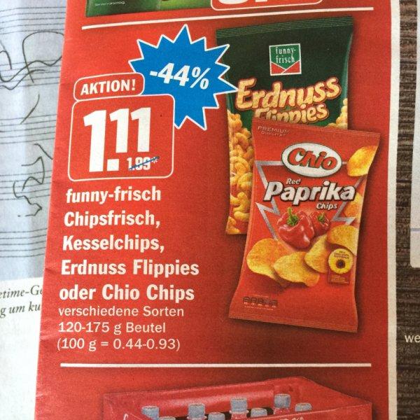 Funny-Frisch, Kesselchips oder Chio Chips 120 - 175 g AEZ FFB - lokal