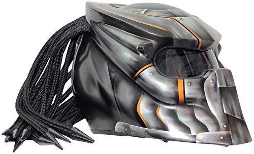 Motorradhelm Predator X1 Iron - Carbon-Dreadlocks und Laser @amazon