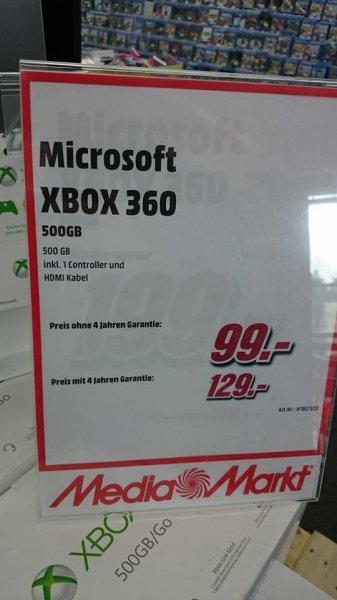 Xbox 360 E 500 GB für 99 € lokal Media Markt Lüneburg