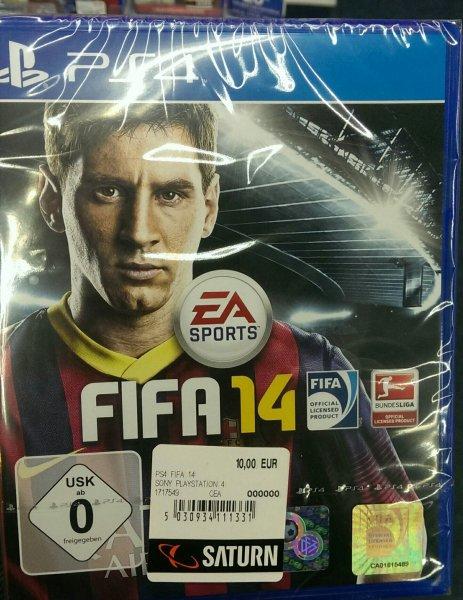 Fifa 14  PS4 für  10 € (Saturn Jena)