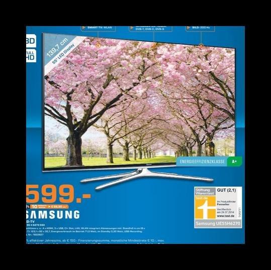 Samsung UE55H6270 Full HD 200Hz LED Analog/DVB-C/DVB-S/DVB-S2/DVB-T , EEK: A+ für 599 € @ Saturn Stuttgart