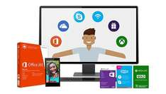 Microsoft Work & Play Bundle (Office 365 Home, Xbox Live Gold, Wi-Fi + Skype Unlimited World, 60$ Store Giftcard)