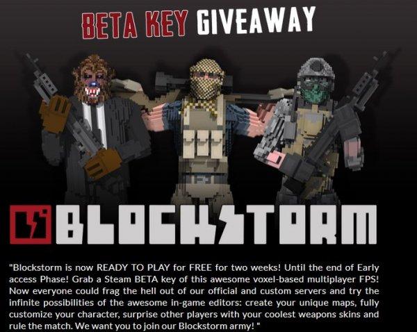 Blockstorm Beta Giveaway Steam Key
