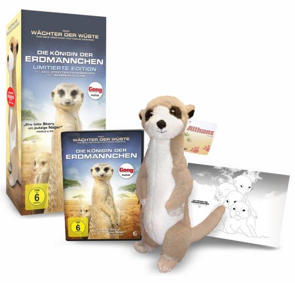 (Amazon BIitzangebot) Die Königin der Erdmännchen - Collectors Edition (DVD, Stofftier und 4 Ausmalblätter) für 10,97€ (Prime)