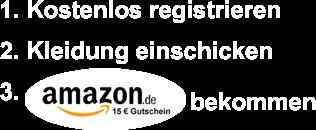 15 Euro Amazon Gutschein für Registrierung bei Zamaro Kleidertauschbörse