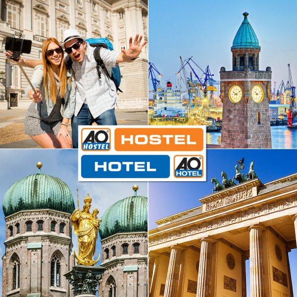 A&O TO GO Orange Geschenkgutschein für 29€@ eBay - 2 Übernachtungen für 2 Personen in 25 Häusern in 18 Städten in 4 Ländern