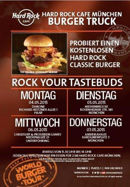 Hard Rock Classic Burger kostenlos essen in München