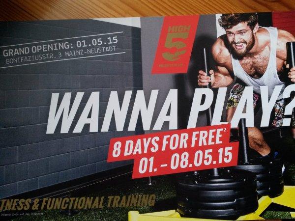 [Lokal Mainz] 8 Tage kostenloses Training im High5 Mainz