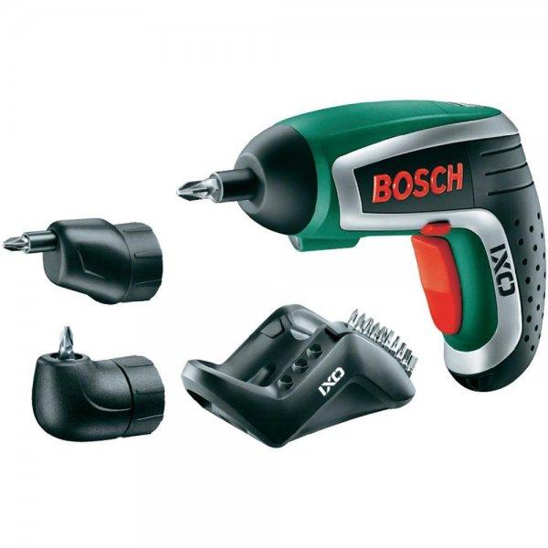 Bosch IXO IV Upgrade Set (inkl. Winkel- u. Exzenteraufsatz) + 10 Bosch IXO Schrauberbits für 44,03€ @smdv.de