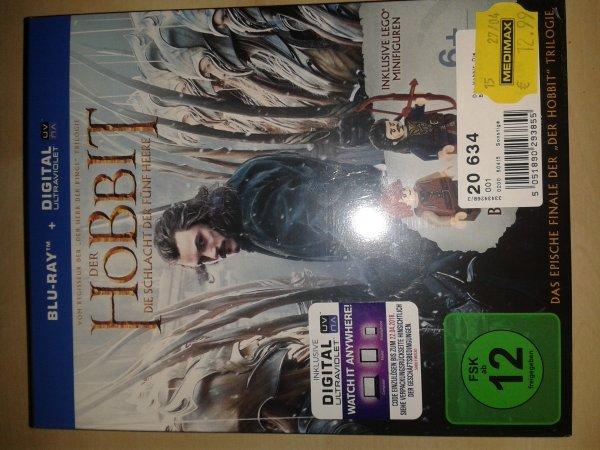 [Lokal Medimax] Der Hobbit - Die Schlacht der fünf Heere Blu-Ray inkl. 2 Lego-Figuren 12,99 €